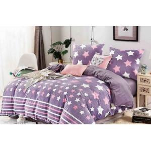 Posteľné obliečky fialovej farby s hviezdičkami