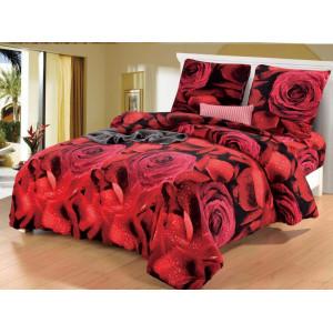 3D posteľné obliečky s potlačou ruží