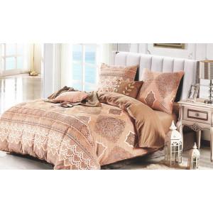 Originálne posteľné obliečky hnedej farby s ornamentami