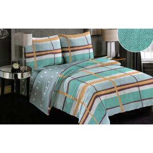 Obojstranné posteľné obliečky tyrkysové