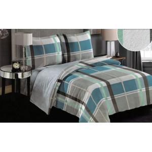 Obojstranné posteľné obliečky modré