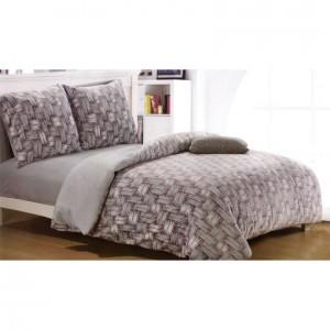 Béžové posteľné obliečky s motívom pletenia