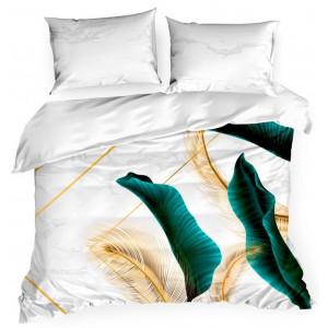 Luxusné posteľné obliečky so zlatými pierkami