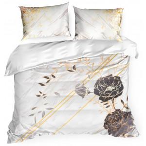 Luxusné posteľné obliečky v kombinácii so zlatými vzormi