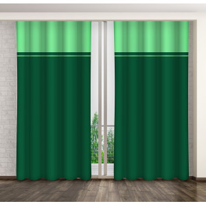 Dekoračný dvojfarebný záves zelenej farby