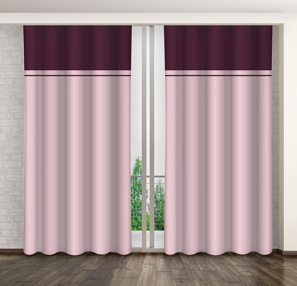 Dvojfarebný dekoračný záves do obývacej izby
