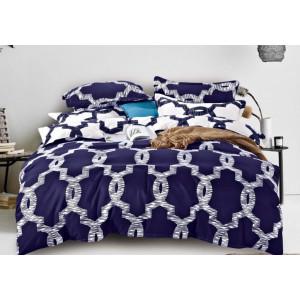 Kvalitné posteľné obliečky vo fialovo-bielej farbe so vzorom