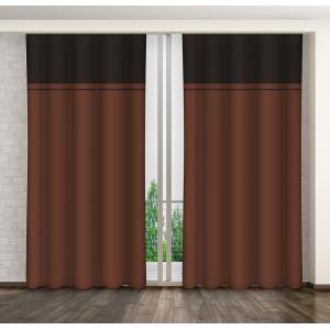 Luxusný tmavo hnedý dekoračný záves do obývačky