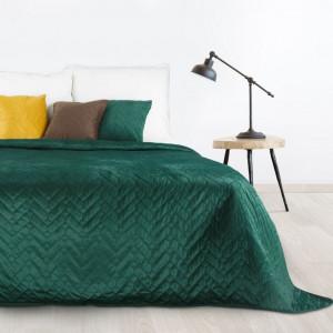 Luxusný tmavozelený prehoz na posteľ