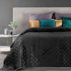 Luxusný čierny prehoz na posteľ