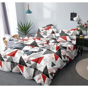 Posteľné obliečky s motívom trojuholníkov