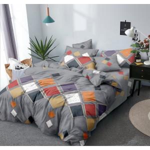 Sivé posteľné obliečky s geometrickými tvarmi