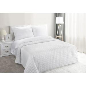 Krásny jednofarebný prehoz na posteľ v bielej farbe 170x210cm