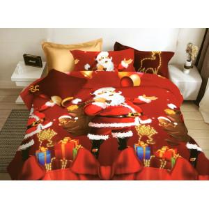 Vianočné obliečky na posteľ s mikulášom