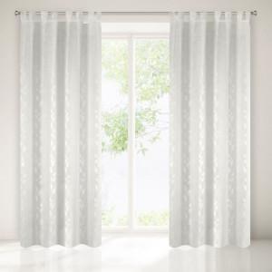 Krásna biela moderná záclona