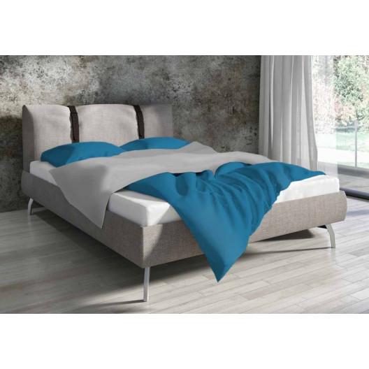 Bavlnené obojstranné posteľné obliečky tyrkysovej farby
