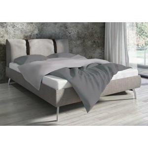 Bavlnené obojstranné posteľné obliečky šedej farby
