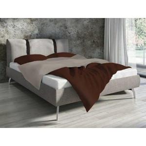 Bavlnené obojstranné posteľné obliečky čokoládovej farby
