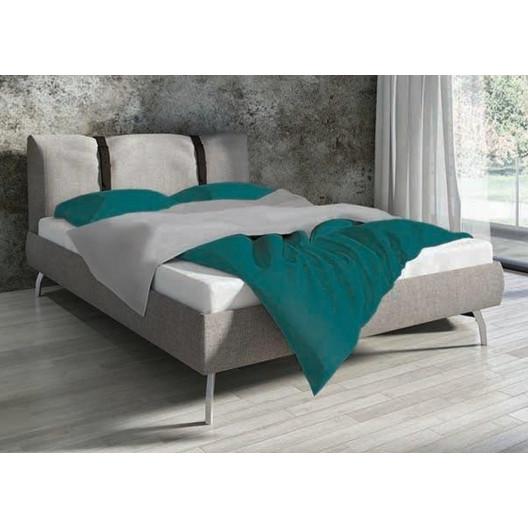 Bavlnené obojstranné posteľné obliečky tyrkysovozelenej farby