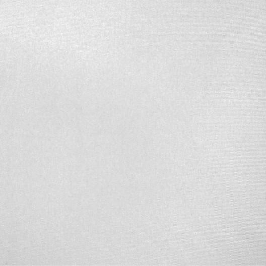 Luxusný jednofarebný záves na kruhy v bielej farbe