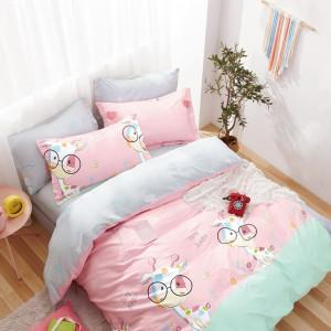 Detské bavlnené posteľné obliečky  v rúžovej farbe