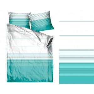 Originálne bavlnené tyrkysové posteľné obliečky