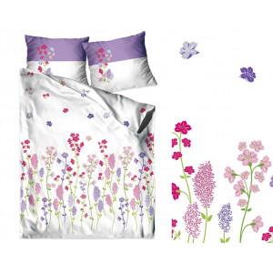 Bavlnené posteľné obliečky s motívom poľných kvetov