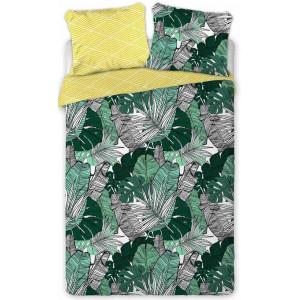 Bavlnené posteľné obliečky s exotickým motívom
