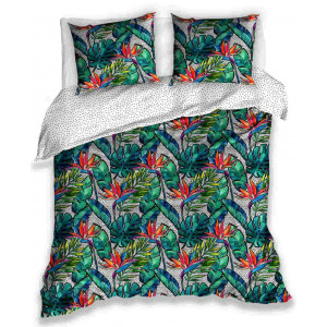 Bavlnené posteľné obliečky s tropickým motívom