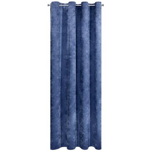 Tmavo modrý zatemňovací záves s dlžkou 250cm