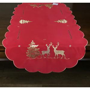 Vianočné prestieranie červenej farby