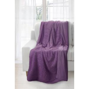 Krásná fialová teplá deka