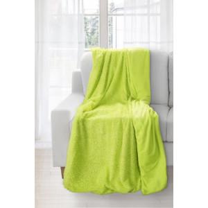 Moderná teplá zelená deka do obývačky