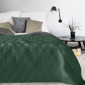 Moderný prehoz smaragdovej farby so vzorom