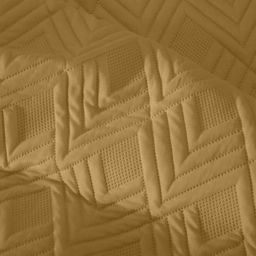 Moderný prehoz žltej farby so vzorom