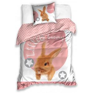 Roztomilé detské posteľné obliečky so zajačikom