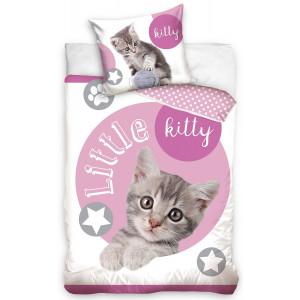 Roztomilé detské posteľné obliečky s mačiatkom