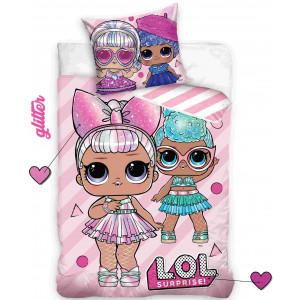 Moderné dievčenské bavlnené posteľné obliečky LOL SURPRISE