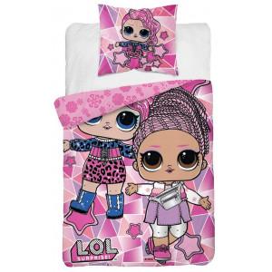 Krásne dievčenské bavlnené posteľné obliečky LOL SURPRISE