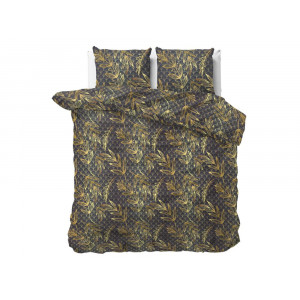 Štýlové hnedé posteľné obliečky s motívom listov 160 x 200