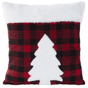 Štýlová vianočná obliečka na vankúš s motívom stromčeka