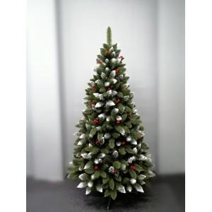 Vianočná borovica v zelenej farbe