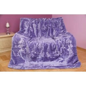Luxusná deka vo fialovej farbe lila