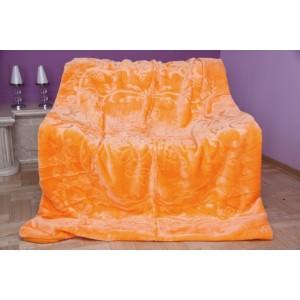 Luxusná deka v oranžovej farbe