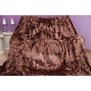 Luxusná deka hnedej farby