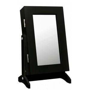 Malé zrkadlo na stôl v čiernej farbe