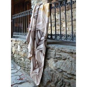 Teplá hnedá vzorovaná bavlnená deka 150 x 200 cm