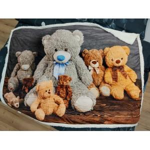 Medvedíková hrejivá detská deka
