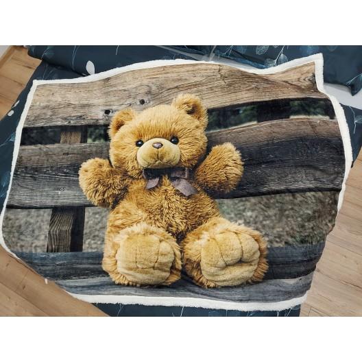 Kvalitná detská deka s motívom medvedíka 130x160