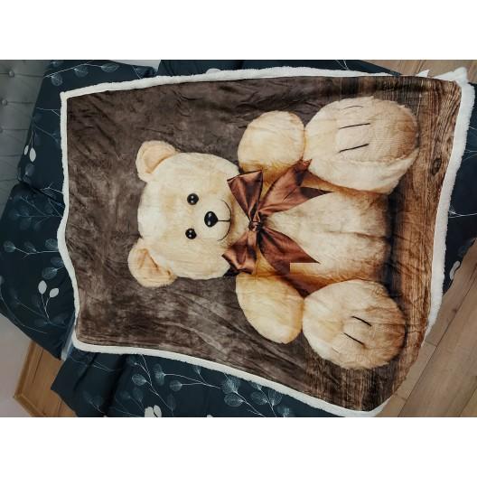 Zateplená detská deka s medvedíkom v darčekovej krabičke